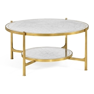 Jonathan Charles Home Transitional Silver Coffee Table 495073