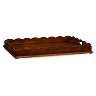 Jonathan Charles Home Walnut Tray With Scalloped Edge (Large) 495075