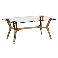 Jonathan Charles Home Midcentury Style Rectangular Oak Coffee Table