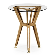 "Jonathan Charles Home Architectural 24"" Circular Side Table"