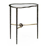 Jonathan Charles Home Bronze Hammered Freeform Lamp Table 495083