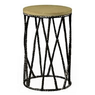 Jonathan Charles Home Bronze Hammered Wine Table With Celadon Top 495085
