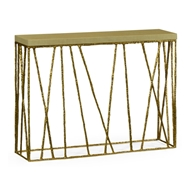 Jonathan Charles Home Brass Hammered Console With Celadon Top 495087