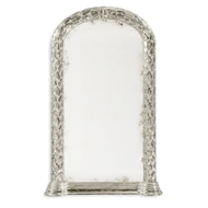 Jonathan Charles Wall Decor Carved And Silver Gilded Hanging Wall Mirror 495146-SIL Gilded Antique Silver-leaf on wood