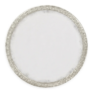 "Jonathan Charles Wall Decor 48"" Round Wall Mirror 495149-SIL Gilded Antique Silver-leaf on wood"