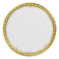 "Jonathan Charles Home 48"" Round Hanging Wall Mirror 495149-WTG Water Gilded Gold Leaf"
