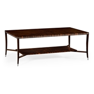 Jonathan Charles Home Macassar Ebony Coffee Table with White Brass Detail 495166