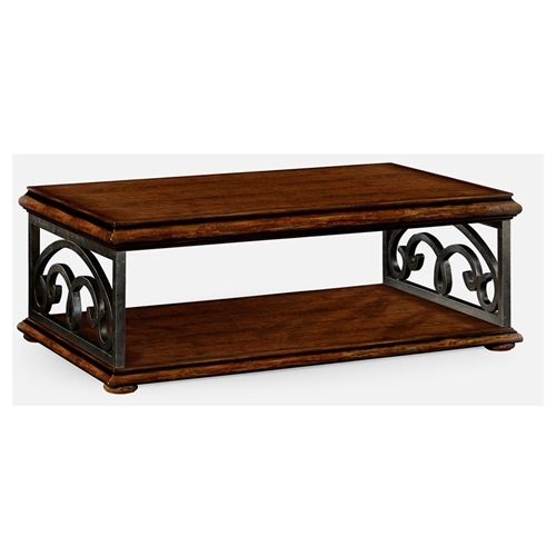 Wrought Iron Coffee Table With Drawers: Jonathan Charles Home Rustic Walnut Coffee Table With
