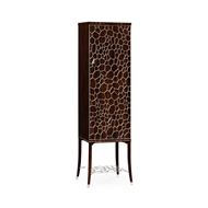 Jonathan Charles Home Soho Drink Cabinet With Brass Inlay 495189-AMA Macassar Ebony Finish