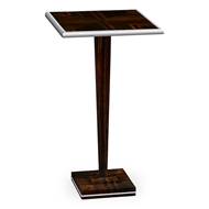 Jonathan Charles Home Macassar Ebony Martini Table with White Brass Detail 495193