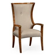 Jonathan Charles Home Cosmo Dining Armchair 495195-AC-DLF-F001 Daniella Light Finish