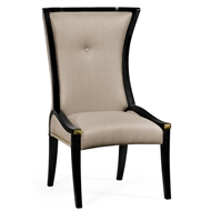 Jonathan Charles Home Painted Black Cosmo Dining Side Chair 495195-SC-BLA-F001 Painted Formal Black