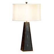 Jonathan Charles Lighting Faux Macassar Ebony & Anthracite Shagreen Table Lamp 495225-MAS Shagreen Anthracite