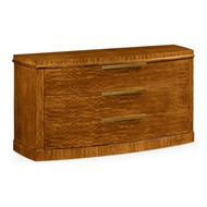 Jonathan Charles Home Contemporary Three-Drawer Chest 495238-DLF Daniella Light Finish