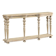 Jonathan Charles Home Rectangular Rustic Walnut Console 495303