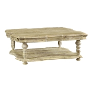 Jonathan Charles Home Square Rustic Walnut Coffee Table 495305