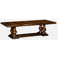 Jonathan Charles Home Rustic Walnut Dining Table 495306-110L
