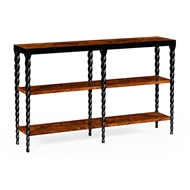 Jonathan Charles Home Bookcase With Black Twisted Legs