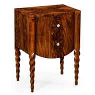 Jonathan Charles Home Chest Of Drawer With Walnut Twisted Legs