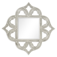 Jonathan Charles Wall Decor Gilded Silver Leaf Mirror 495350-SIL Antique Silver-leaf light on wood