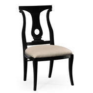 Jonathan Charles Home Black Lock Dining Side Chair 495351-SC-BLA Painted Formal Black