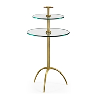 Jonathan Charles Home Brass & Glass Round Drinks Table 495355