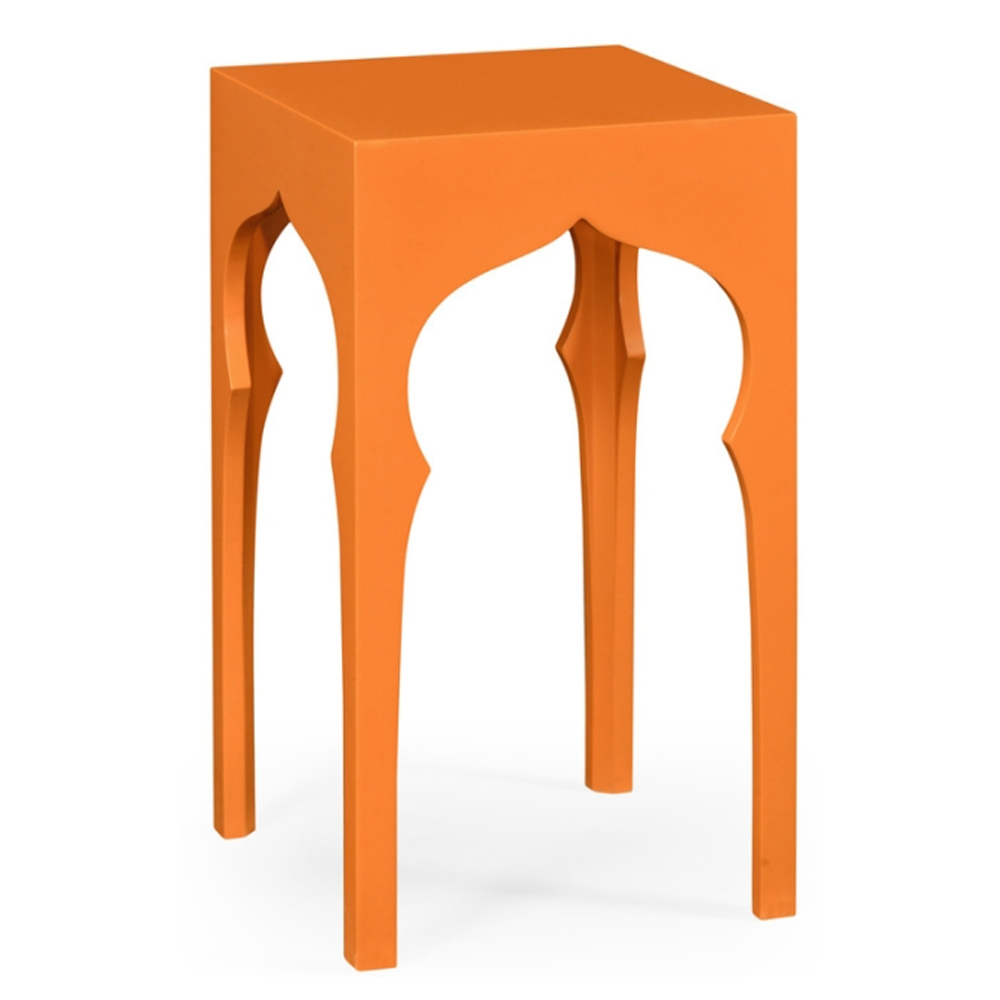 Jonathan Charles Home Square Lamp Table (Pumpkin Cream) | Bold and Bright: A Guide to Colorful Home Decor