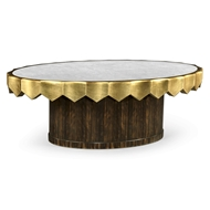 Jonathan Charles Home Eglomise Oval Cocktail Table 495384