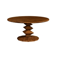"Jonathan Charles Home 60"" Contemporary Round Dining Table"