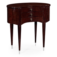 Jonathan Charles Home Kidney Shaped Side Table Of Drawers