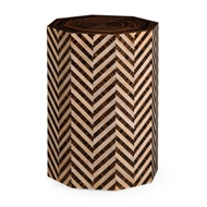Jonathan Charles Home Scottish Garden Stool 495404-LWA Limed Walnut
