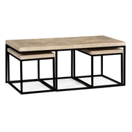 Jonathan Charles Home Rectangular Coffee Table In Limed Acacia 495422