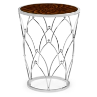 Jonathan Charles Home Feather Inlay Round Side Table