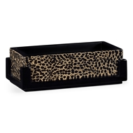 Jonathan Charles Home Rectangular Pen Box 495486-EA001 Black midnight on inverted eggshell