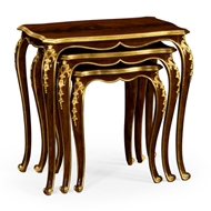 Jonathan Charles Home Nesting Tables With Gilt Carved Detailling