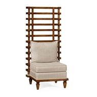 Jonathan Charles Home Unusual Occasional Chair Upholstered In Mazo 495514-CAW-F001 Camden Walnut Finish