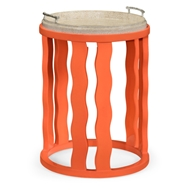 Jonathan Charles Home Persimmon Side Table With Reversible Top 495522-PEP Painted Persimmon