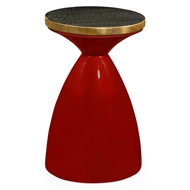 Jonathan Charles Home Emperor Painted Round Wine Table 495523-EMR-GLB Emperor Red