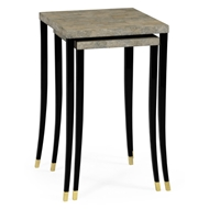 Jonathan Charles Home Black Brushed Eggshell Nesting Tables
