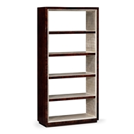 Jonathan Charles Home Black Eucalyptus Five-Tier Etagere 495549