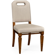 Jonathan Charles Home Contemporary Dining Side Chair, Upholstered In Mazo 495551-SC-CAW-F001 Camden Walnut Finish