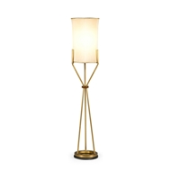 Jonathan Charles Lighting Floor Lamp With A Circular Brass Base 495555-FLB Painted on Iron same as Brass Light Antique Polish