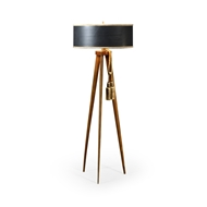 Jonathan Charles Lighting Floor Lamp With Triangular Ba 495556-DLF Daniella Light Finish