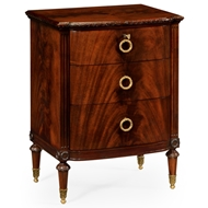 Jonathan Charles Home Bedside Table With Drawers 495571-MAH Antique Mahogany Light