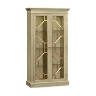 Jonathan Charles Home Two-Door Display Cabinet Champagne 495632-GSH Champagne Finish