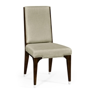 Jonathan Charles Home Dining Side Chair 495647-SC-BEC-F001 Black Eucalyptus color (on veneer)