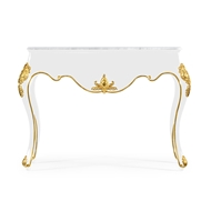 Jonathan Charles Home Console Table In Gloss Painted Black 495709