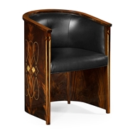 Jonathan Charles Home Knightbridge Dining Chair, Up 495712-BMA-L012 Antique Mahogany Brown - NC High Lustre on veneer