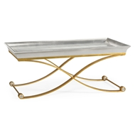 Jonathan Charles Home Coffee Table With Gilded Silver Leaf