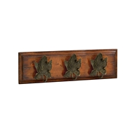 Jonathan Charles Home Three Leaf Hooks 495757-22L-BRS26 Dark Bronze Antique with Rub-Through